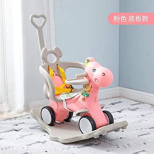 YYSDH Baby schommelpaard, vroeg onderwijs muziek schommelstoel, multifunctionele droom eenhoorn vorm, het is vooral schattig is de ideale playmate voor 1-3 jaar oude kinderen, Flash wheel exclusieve Roze
