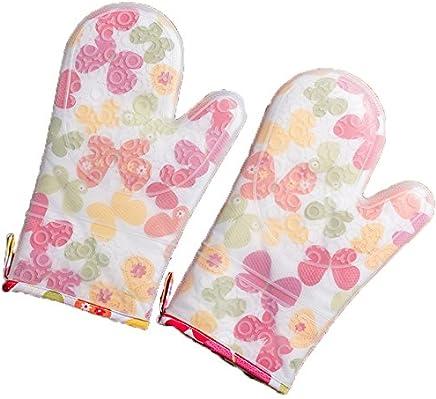 Handschuhe Backen Handschuhe Silikon Handschuhe Anti-heiße Handschuhe Hochtemperatur-Handschuhe Silikon-Ofen Anti-Verbrühungs Handschuhe doppelte Isolierung wasserdicht leicht zu reinigen Handschuhe B07FF142Y8  | Verschiedene Waren