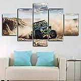Cinco piezas de pinturas en lienzo Decoración para el hogar Arctic Cat Wildcat X Off Roadster Car Print Wall Art Decor Hd Print Pictures Poster enmarcado 200x100cm