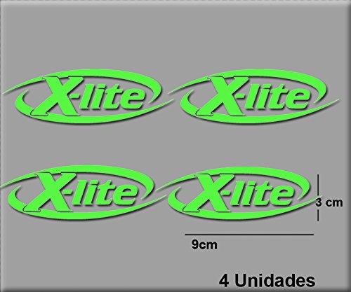 Ecoshirt 3D-UOBT-184G Aufkleber Stickers X-Lite R66 Aufkleber Decals Autocollants Adesivi, grün