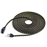 1M/3.3ft, CAT7 Ethernet Cable, Flat Internet Network LAN Patch Cords, LSOH Engineering Grade Network Cable