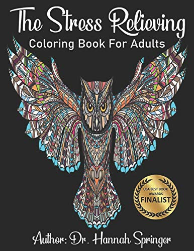 Stress Relieving Coloring Book: Animal...