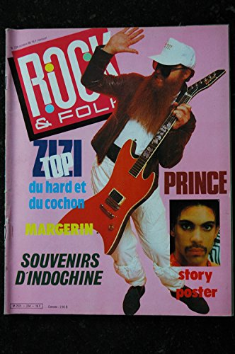 ROCK & FOLK 234 ZIZI TOP MARGERIN SOUVENIRS D\'INDOCHINE PRINCE + POSTER 1986