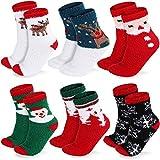 ASANMU Weihnachtssocken Damen, 6 Paar Weihnachtssocken Set Christmas Socks Weihnachtsstrumpf Wintersocken Damen Kuschelsocken Weihnachts Wintermotiv Damen-Socken Super Warm Socken für Geschenk