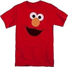 Trevco Sesame Street Elmo Face Mens Short Sleeve Shirt
