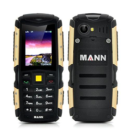 MANN ZUG S Telefono Cellulare TRI-PROOF RESISTENTE ALL'ACQUA IP67 WATERPROOF ANTIURTO ANTIPOLVERE DUAL SIM Batteria da 2570mAh (COLORE ORO)
