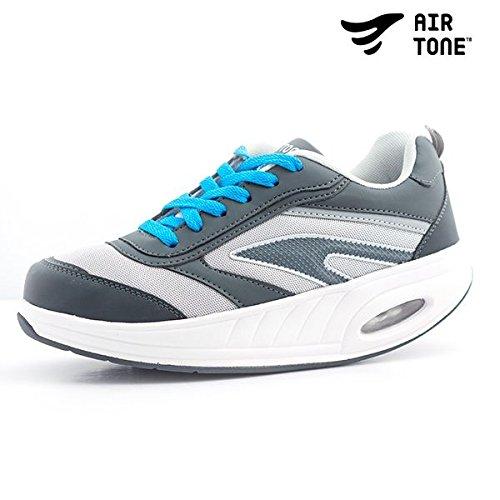Apolyne Stärkende Air Tone Sneaker, Unisex Erwachsene, weiß/grau, 36