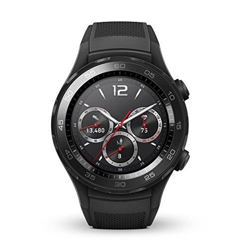HUAWEI Reloj inteligente deportivo 2, monitor de actividad y actividad con GPS integrado, frecuencia cardíaca, música, notificaciones inteligentes, IP68-Life impermeable, color negro