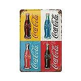 XREE Coca Cola Four Bottles Limited Wandbord in Reliëf Art Cartel de lata vintage accesorios para el hogar displate placas de metal retro pintura hierro Rusty Poster 30 x 40 cm