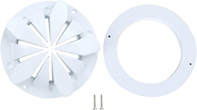 pool drain cover 8 Inch Round Shape Anti Clip Hair Pool Main Drain Swimming Pool Accessories Fittings White Color for Pool...