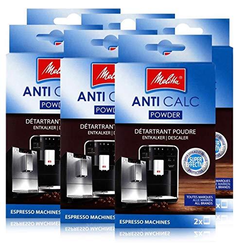 Melitta Anticalc Espresso Machines Entkalker Pulver 2x40g (6er Pack)