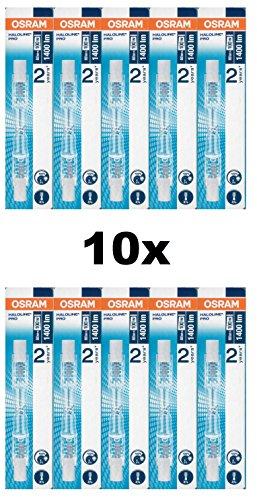 10x Osram HALOLINE, 80W 230V R7s FS1 Länge: 74,9mm, Halogen-HV-Lampe/Halogenstab