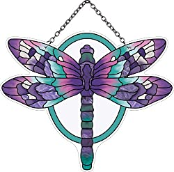 This gift ideas for dragonfly lovers would be beautiful in a window.
