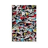 Jordan 1 Sneaker Colorways - Póster decorativo para pared (40 x 60 cm)