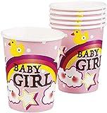 Neu: 6 Party-Becher * Schnuller-Alarm - Rosa * für Einen Süßen Kindergeburtstag | Baby Mädchen Geburt Kinder Geburtstag Girl Pappbecher Partybecher Einweg