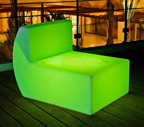 Gowe LED rechargeable en extérieur Canapé Multi couleurs à distance Controll Décoration de votre Salon, chambre, jardin, piscine, terrasse, etc.