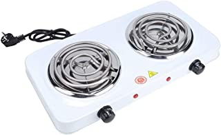 Plaques de Cuisson Portables, Comprend 2 brûleurs à Commande individuelle, Doubles brûleurs électriques durables et antiro...