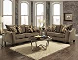 Roundhill Furniture Camero Cafe Sofa And Loveseat Set