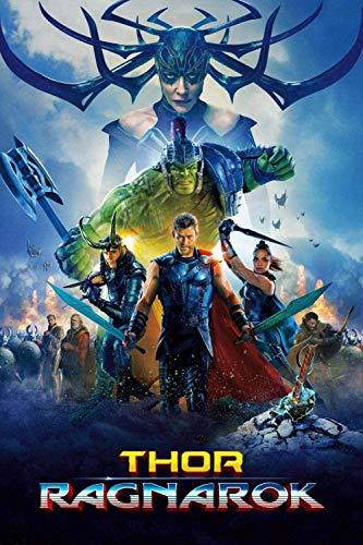 Puzzle de 1000 Piezas para Adultos, niños, pósters de películas de Thor: Ragnarok, Regalos de Entrenamiento para el Equipo de Juegos Familiares para Amantes o Amigos(38 * 26cm)