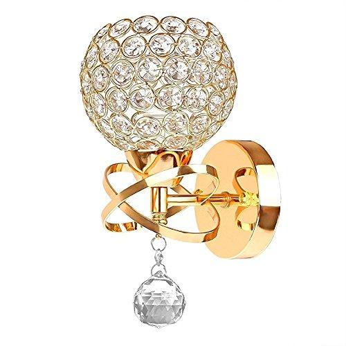 LOTOS Singolo Capo D'oro Crystal Lampada da Parete illuminazione per Modern Minimalist bedroom bedside salotto