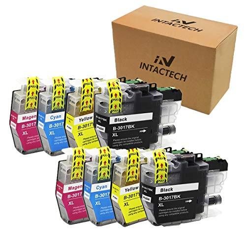Intactech - Cartuchos de tinta de repuesto para Brother LC3017 XL de alto rendimiento con impresora de inyección de tinta MFC-J6930dw MFC-J5330dw MFC-J6530dw MFC-J6730dw (2 negros, 2 cian, 2 magentas, 2 amarillos)