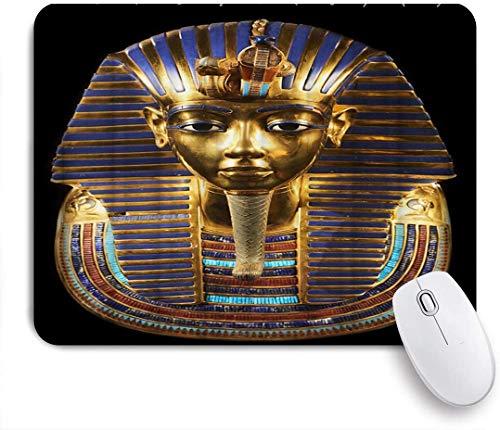 Benutzerdefiniertes Büro Mauspad,Alte ägyptische Maske,Anti-slip Rubber Base Gaming Mouse Pad Mat