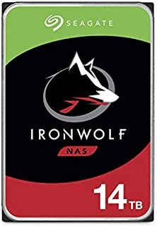 Seagate IronWolf 14TB NAS Internal Hard Drive HDD – CMR 3.5 Inch SATA 256MB Cache for RAID Network Attached Storage – Frus...