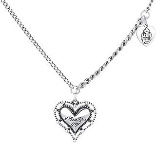 Dtja Vintage Beaded Heart Pendant Necklace for Women Girls Love Anchor Adjustable Link Charm Chain Choker Hypoallergenic J...