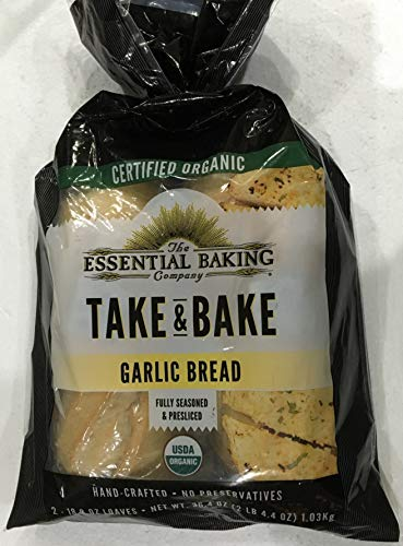 The Essential Baking Company's Certified Organic Take & Bake Garlic Bread - 2x18.2 Oz. Loaves