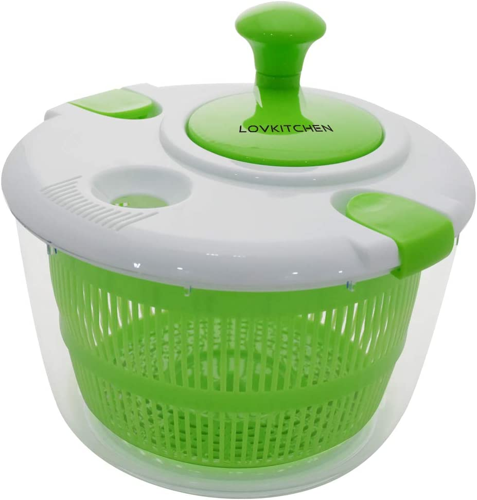 Cheap mail order sales Salad Spinner LOVKITCHEN Limited Special Price Large 5 Vegetables Dr and Quarts Fruits