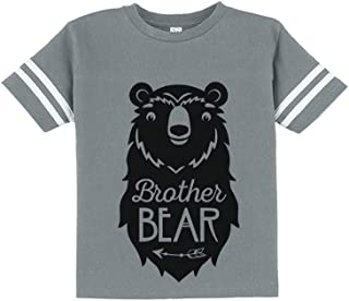 Big Brother Bear Cute Gift Sibling Boy Family Toddler Jersey T-Shirt