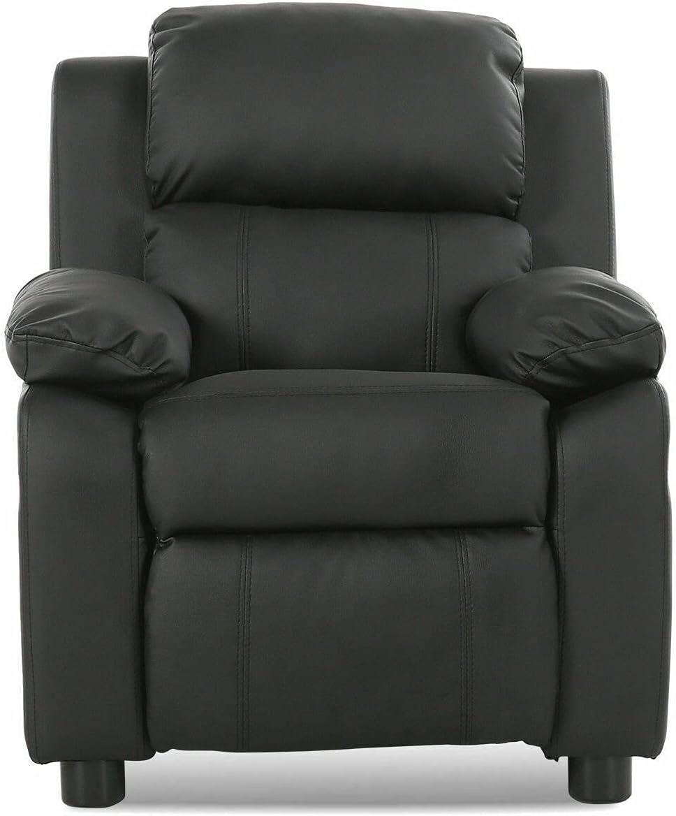 HUIJK specialty shop Black Deluxe Padded Kids Sofa Recliner Armchair online shop C Headrest