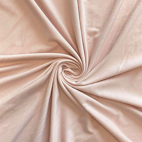 "DTY Double-Sided Brushed Fabric 4 Way Stretch Jersey Knit Apparel 58/60"" Wide Sold BTY Many Color (Rose Gold)"