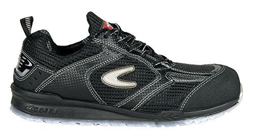 Calzado de seguridad S1P Petri Running de Cofra, zapatillas deportivas, talla 47, negro, 78450-002