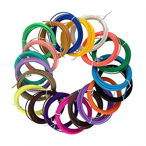 3D Printing Filament,10 Pack 1.75mm PLA Filament Chemical Free for DIY Creative,Colors Random