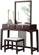 Dressing Table Solid Wood Dressing Table Modern Minimalist Bedroom Dressing Table with Mirror Stool Storage Zen Small Apar...