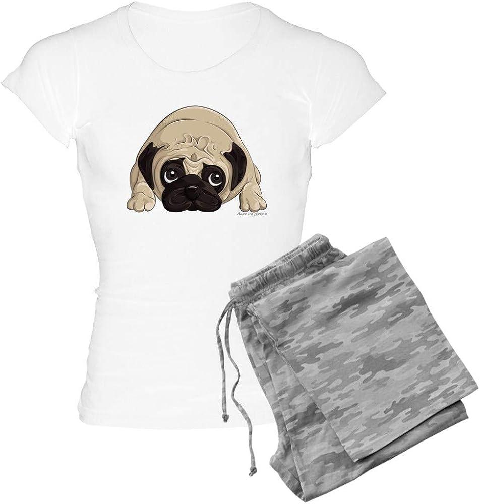 CafePress Pug Women's <セール&特集> Pajamas PJs Light 特別セール品