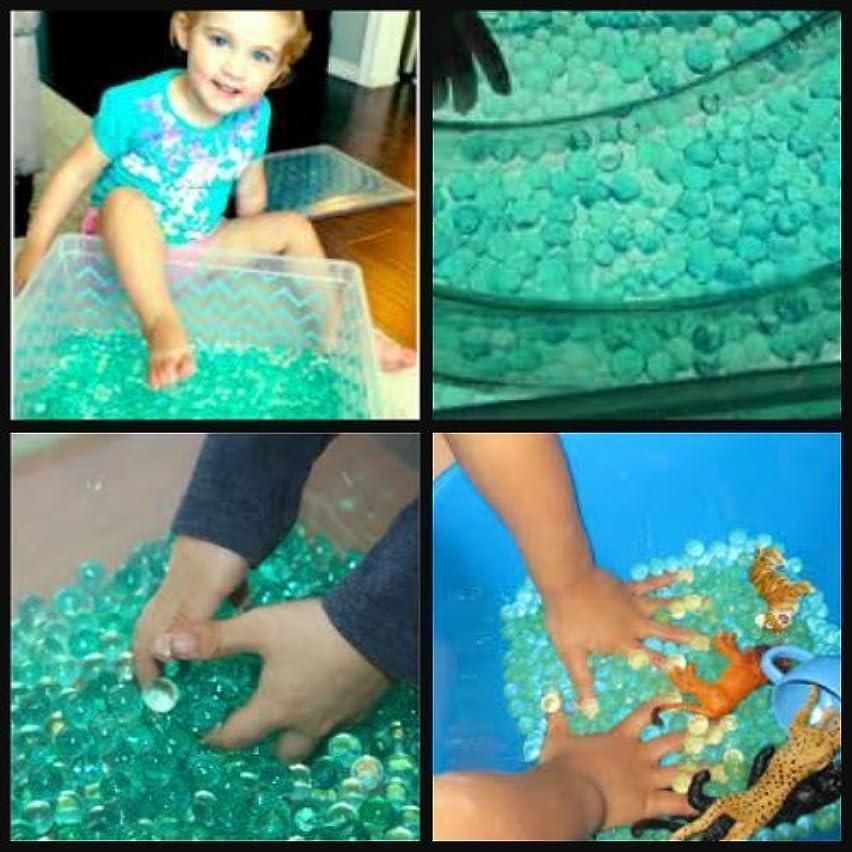 SENSORY BIN TURQUOISE ASSORTMENT - JellyBeadZ Water Bead Gel Crystal Soil 3 -10g/packs - TOYS NOT INCLUDED
