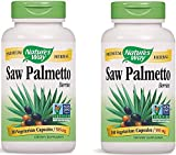 Nature's Way Premium Herbal Saw Palmetto Berries 585 mg (180 Vegetarian Capsules) Pack of 2