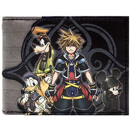 Kingdom Hearts Das Schicksal ist der Schlüssel Portemonnaie Geldbörse Grau