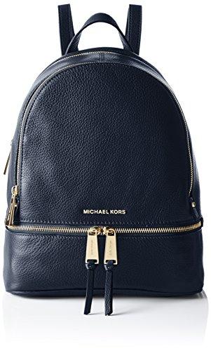 Michael Kors Damen Rhea Zip Rucksackhandtasche, Blau (Admiral), 18x10x28 centimeters