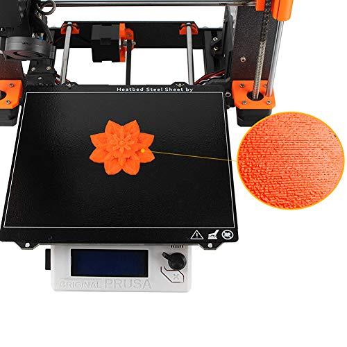 Stampante 3D Primavera Lamiera di Acciaio PEI Doppio Lato Strutturato Letto Calore w/Polvere Rivestito per Prusa I3 MK3 Piastra di Costruzione Temprata