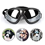 PETLESO Dog Goggles - Large Dog Eye Protection Goggles Windproof Sunglasses for Medium Large Dog, Black