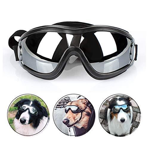 PETLESO Dog Goggles - Large Dog Eye Protection Goggles Windproof Sunglasses for Medium Large Dog, Black