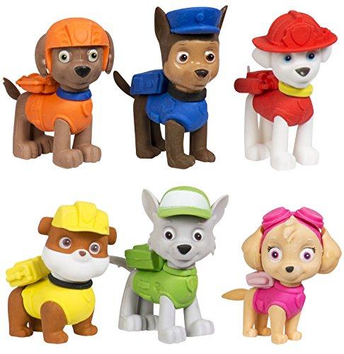Figuras de goma de la Patrulla Canina, 6unidades