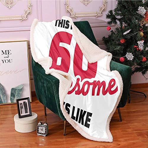 60th Birthday Plush Blanket