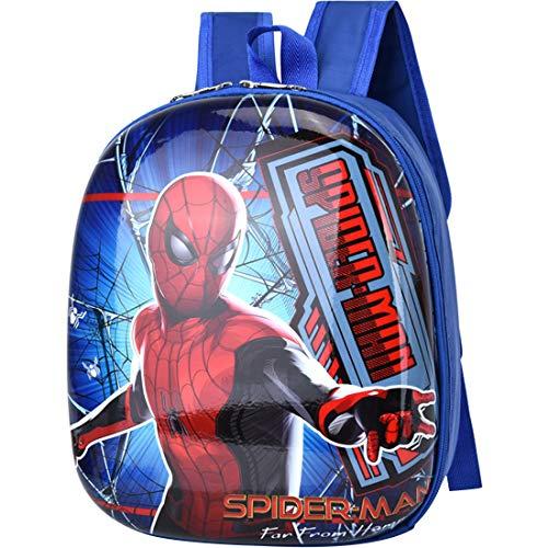 Mochila Spiderman - Miotlsy Mochila Infantil Bolsa Impermeable 3D Mochila para Niños, Mochila para niños de Dibujos Animados Impermeable y Ajustable Adecuado para Niños y Niñas de 2 a 6 Años