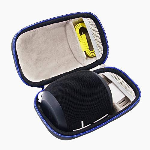 Duro Viaje Estuche Bolso Funda para Ultimate Ears WONDERBOOM/WONDERBOOM II - Altavoz Bluetooth impermeable con conexión por GUBEE (Negro)
