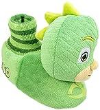 PJ Masks Kids Slipper, Gekko Socktop Slip On,Plush,Green, Toddler Size 11/12