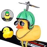 Volwco - Timbre de Bicicleta de Pato, de Goma, Color Amarillo, con luz LED, Manillar de Bicicleta, bocinas para niños, niños, Adultos, Deportes al Aire Libre, Watermelon Helmet